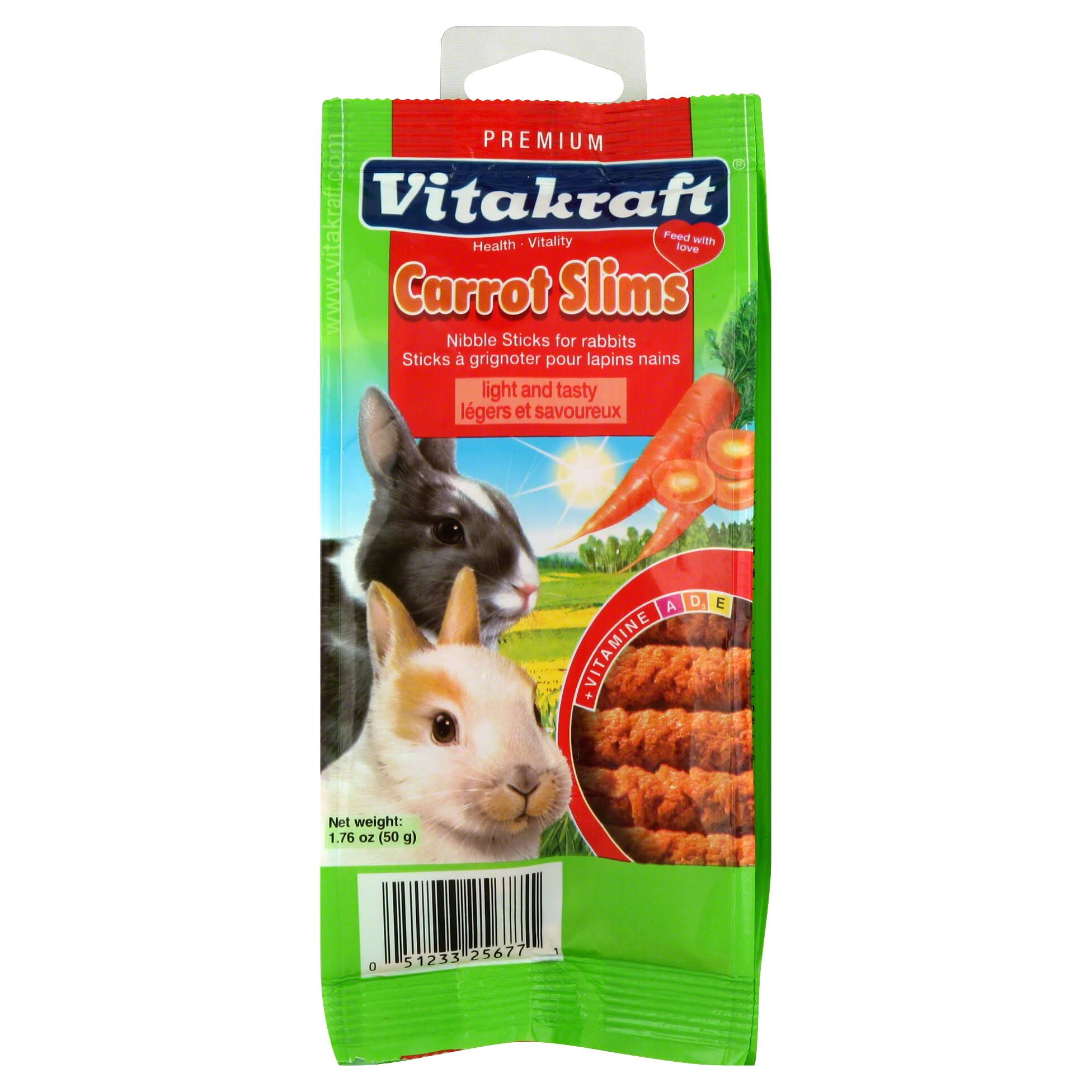 Vitakraft Rabbit Carrot Slims Nibble Sticks - 50g