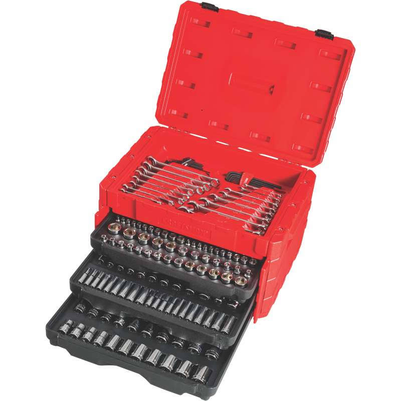 "Craftsman Metric and SAE Mechanic's Tool Set - 1/4"", 3/8"" and 1/2"" Drive, 222pcs"
