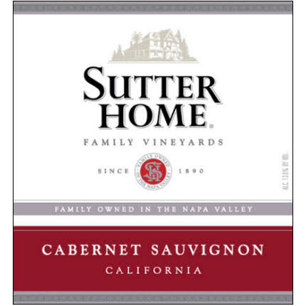 Sutter Home Cabernet Sauvignon, Napa Valley (Vintage Varies) - 750 ml bottle