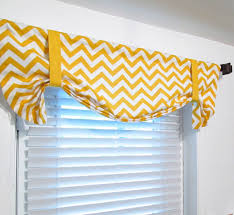 Pink Ruffle Curtain Topper by Tie Up Zig Zag Valance Lined Curtain Chevron Yellow