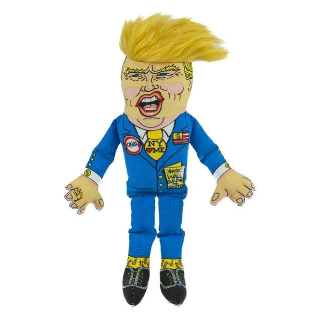 Fuzzu Donald Trump Presidential Parody Dog Toy - Small
