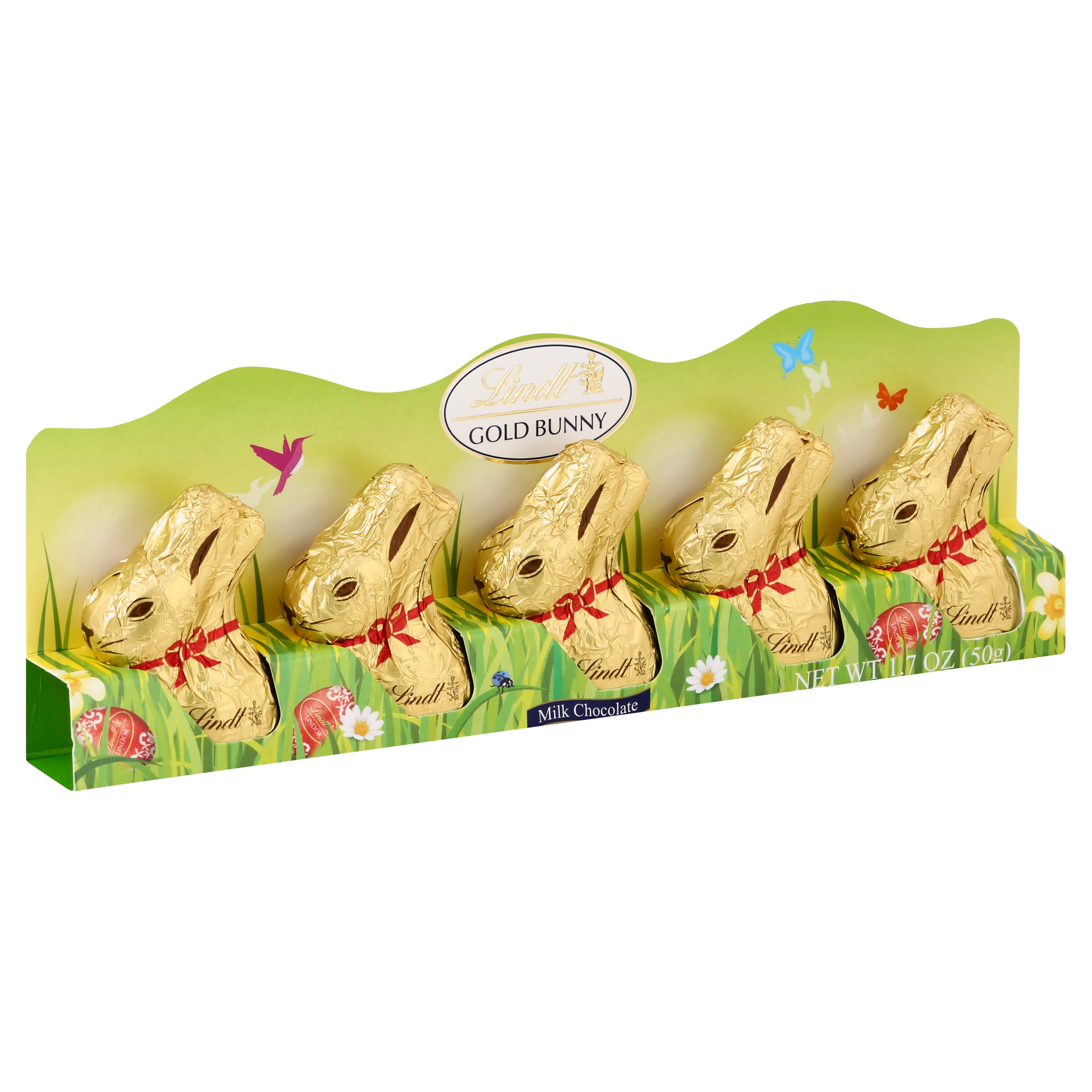 Lindt Mini Gold Bunny Milk Chocolate - 1.7oz, 5ct
