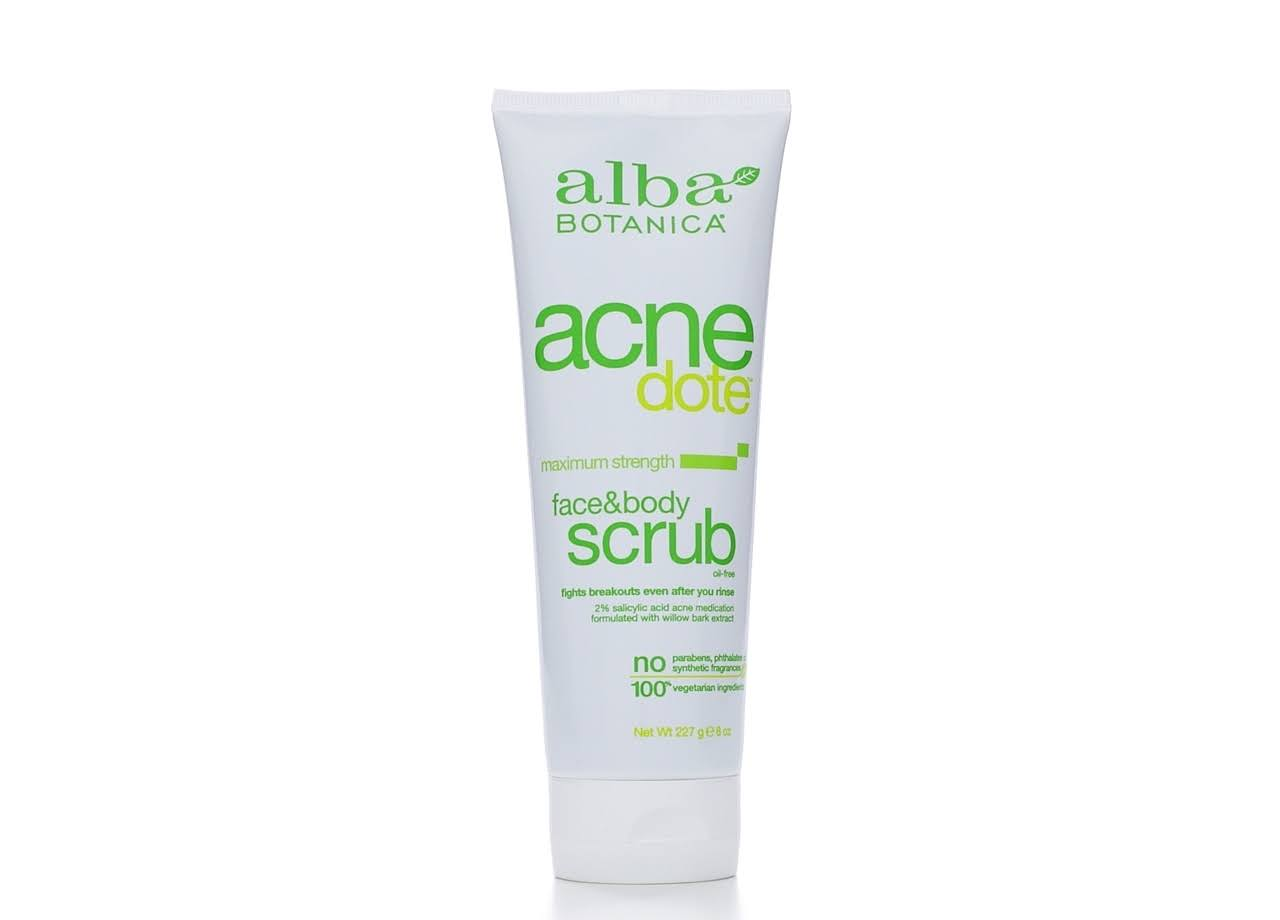 Alba Botanica Natural Acne Dote Face and Body Scrub - 8oz