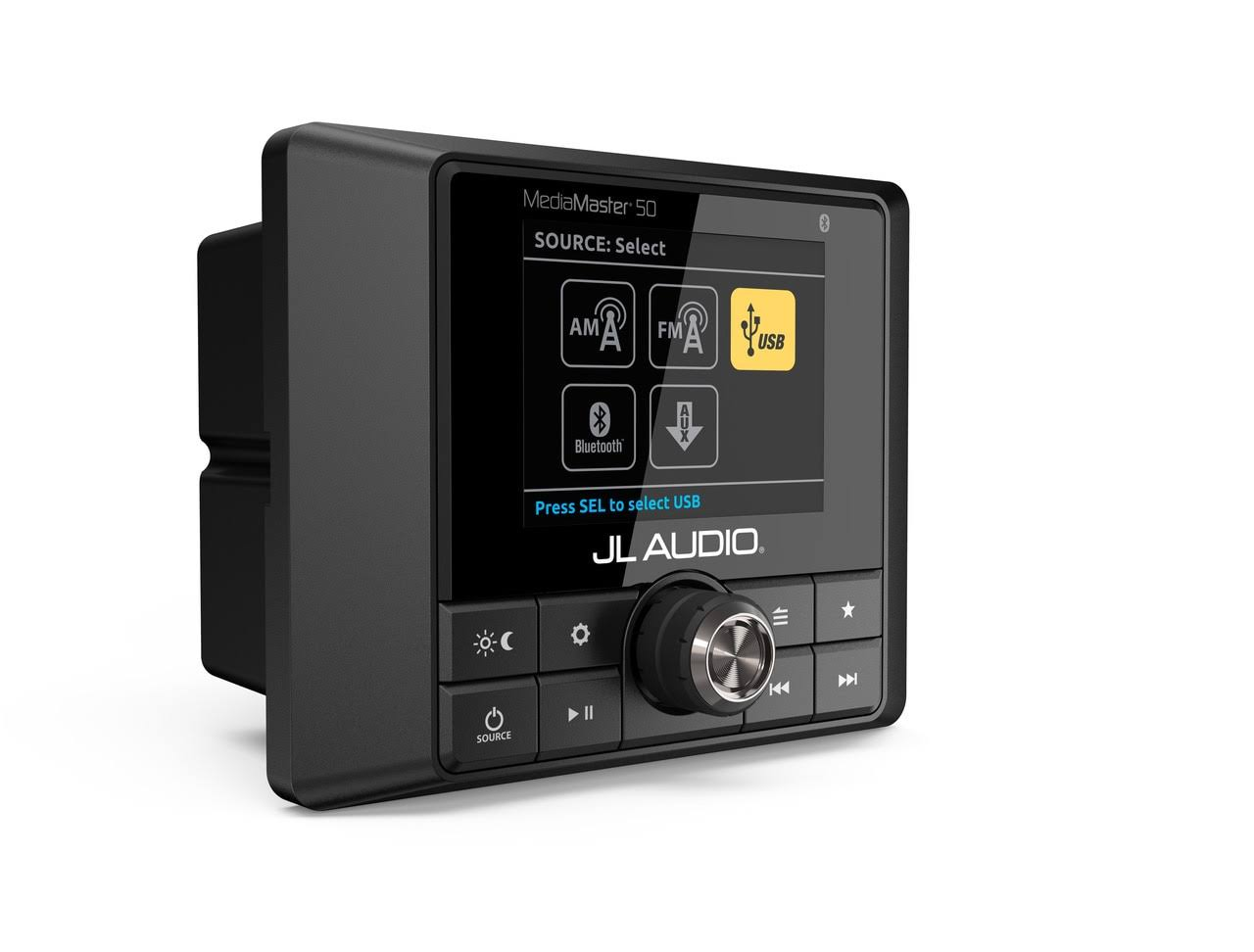 JL Audio Weatherproof Source Unit with Full Color LCD Display MM50