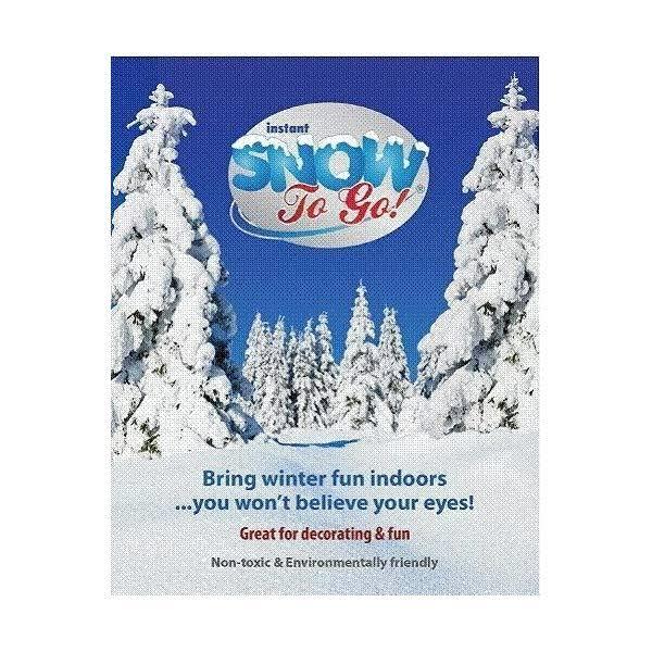Artificial Instant Snow to Go Holiday Winter Christmas Festive Decorating - 1gal