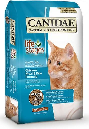 Canidae All Life Stages Dry Cat Food - Chicken Meal and Rice, 15lbs