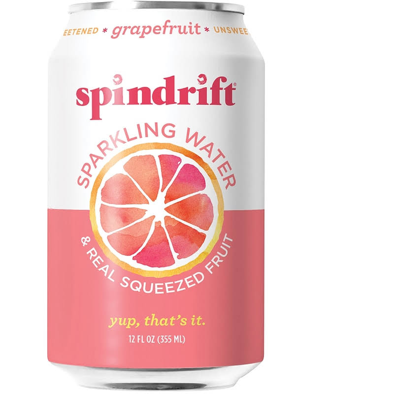 Spindrift Sparkling Water, Grapefruit - 12 fl oz can