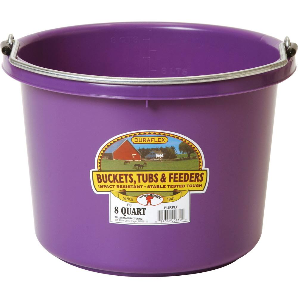 Little Giant 8 Quart Plastic Bucket Purple
