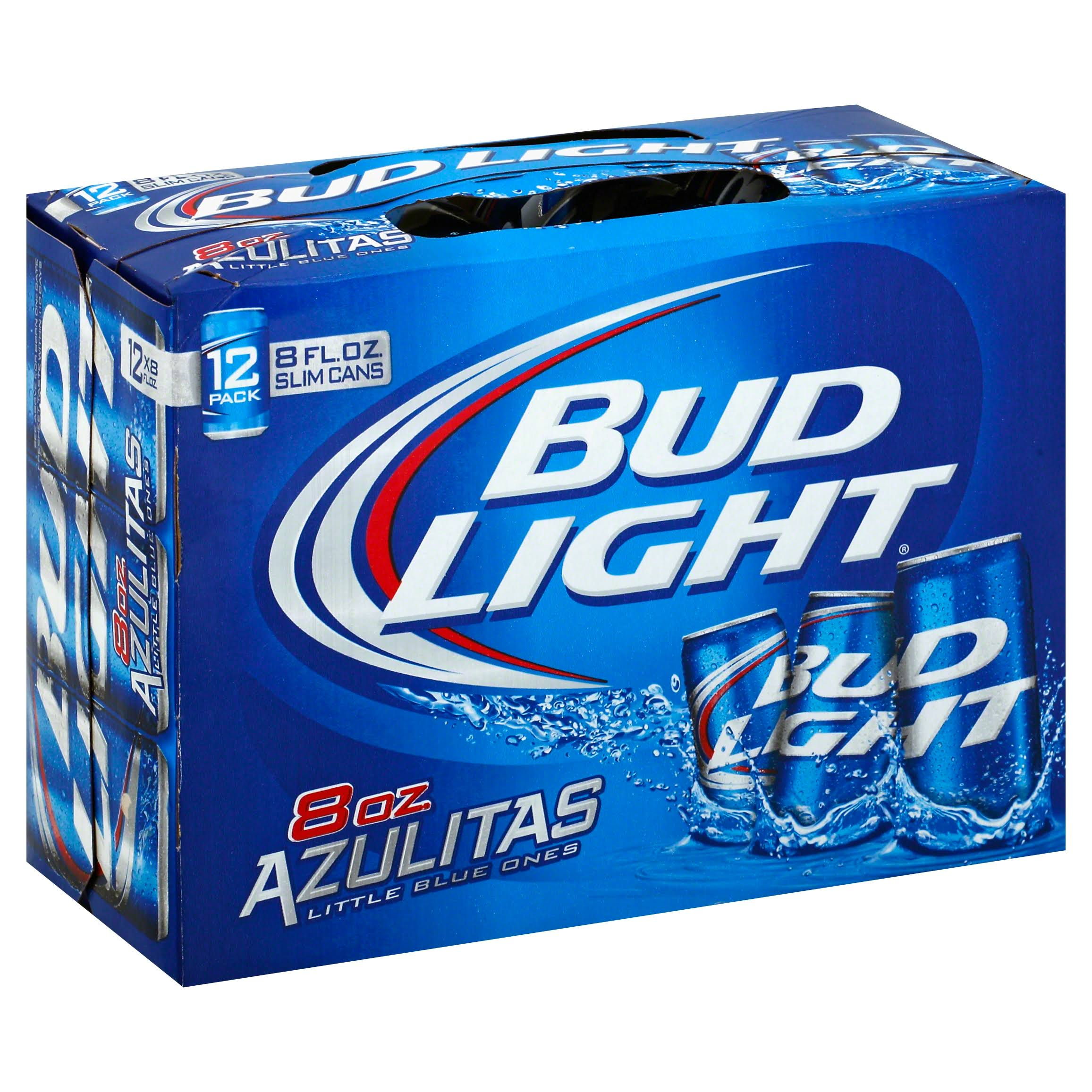 Bud Light Beer - 12 Pack, Slim Cans, 8oz