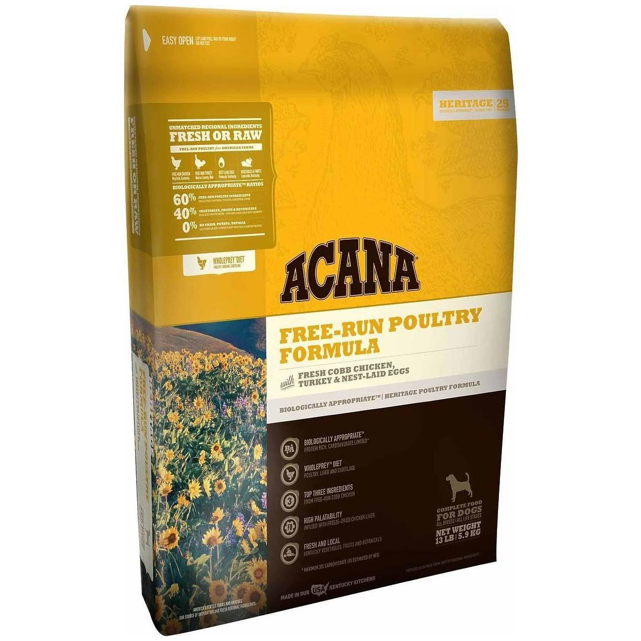 ACANA Free Run Poultry Heritage Dog Food 4.5 lb