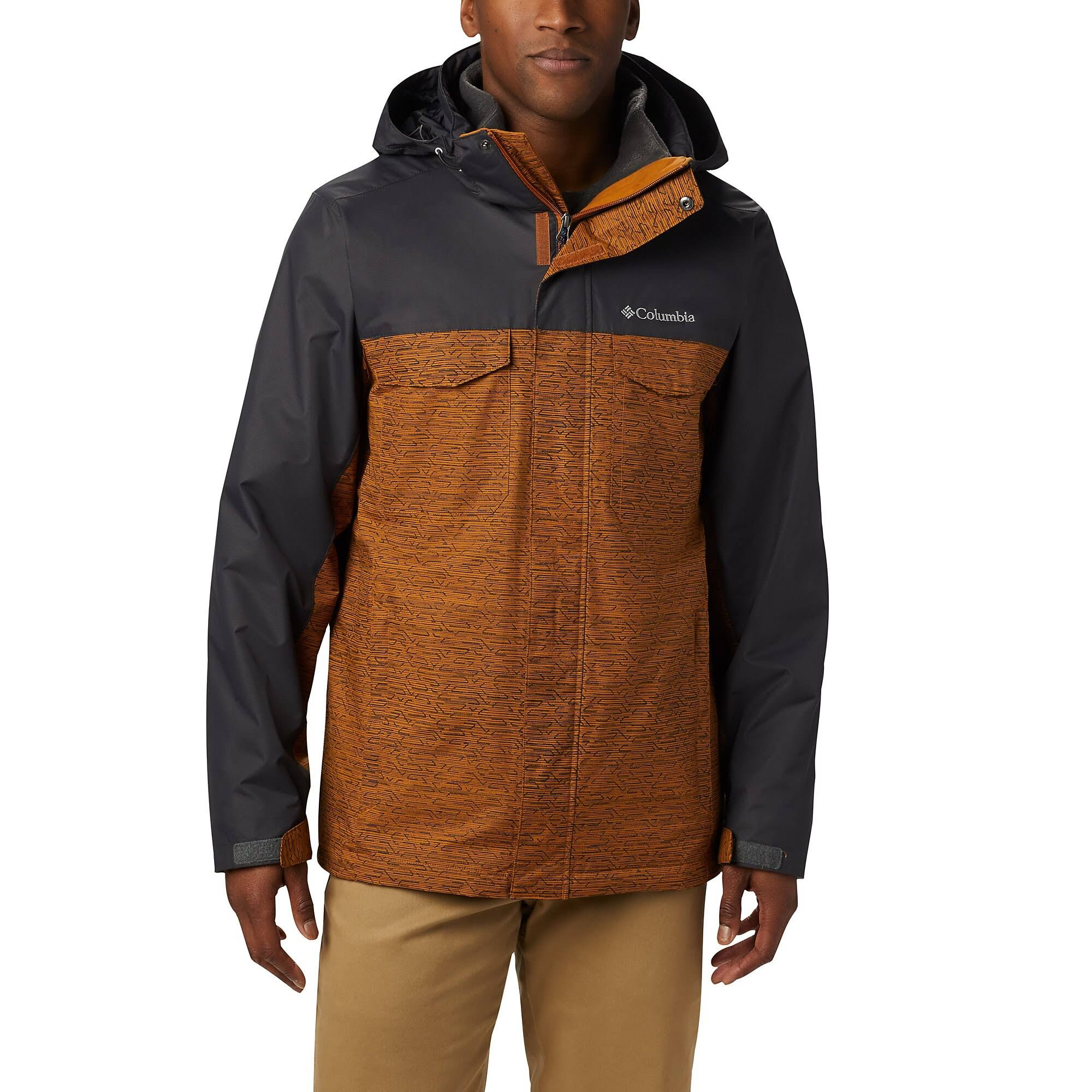 Columbia Men ' S Timberline Triple Interchange Jacket - Burnished Amber Tech Lines / Shark