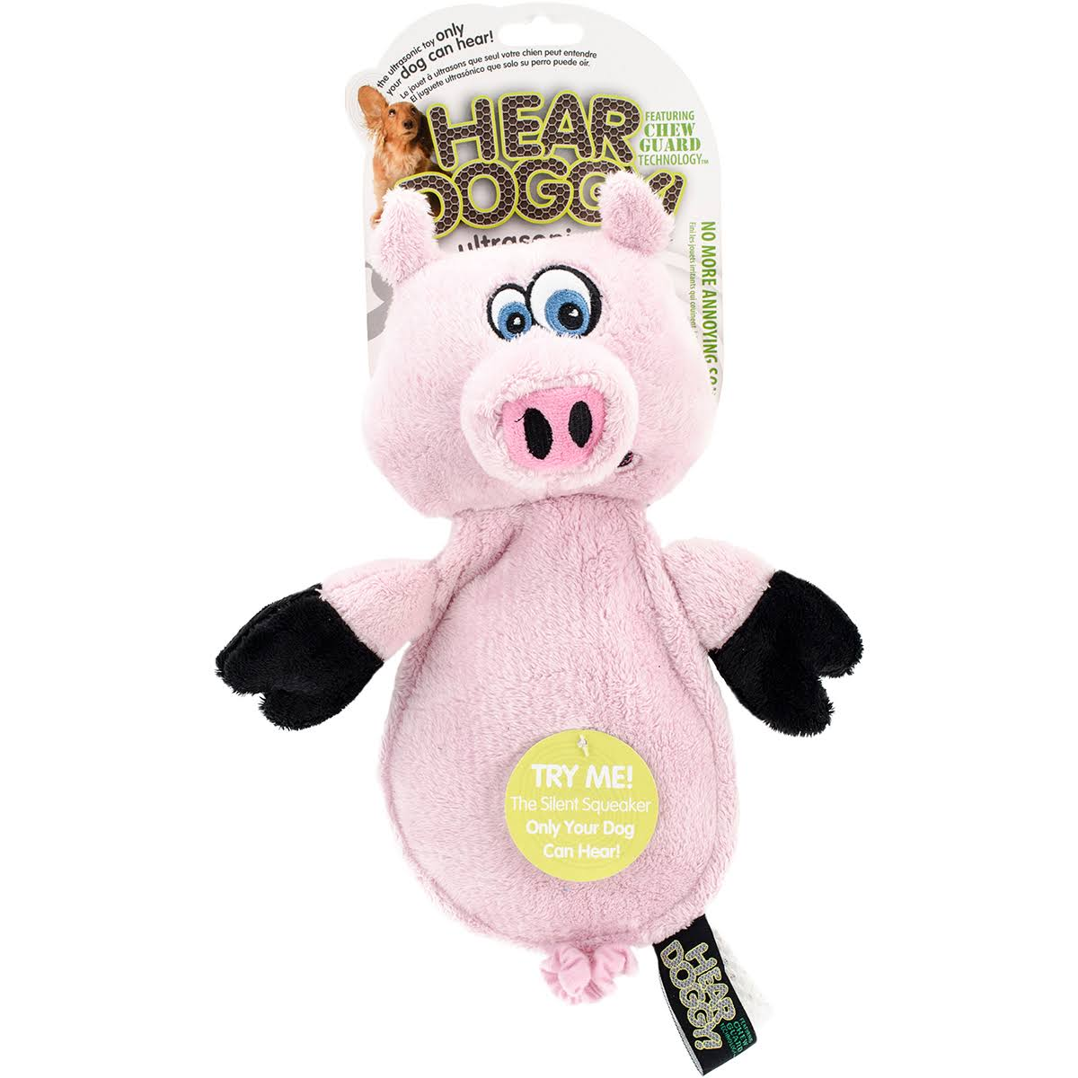 Worldwise Hear Doggy Flattie With Chew Guard - Pig