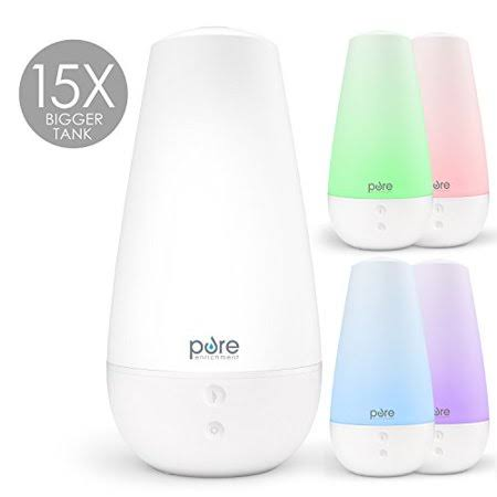 Pure Enrichment PureSpa XL – Extra Large Premium Aroma Diffuser with 2,000ml Tank – 3-in-1