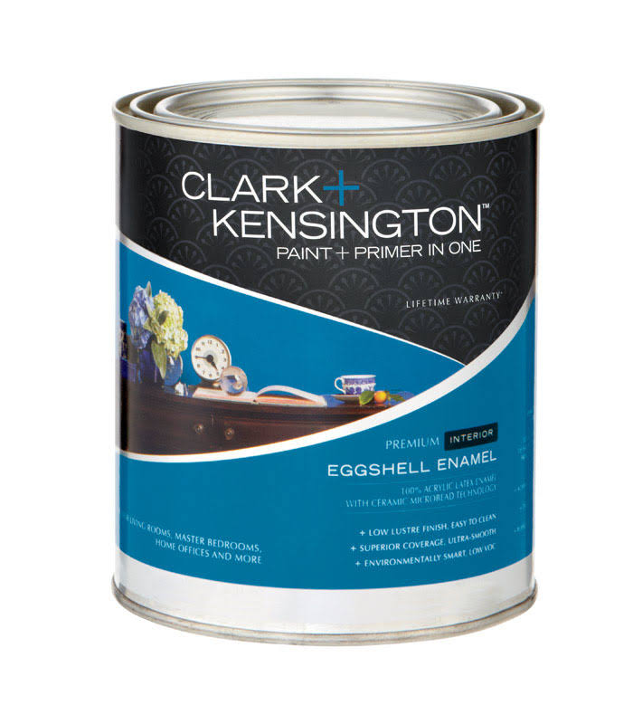 Clark + Kensington Interior Paint and Primer, Eggshell - 1 qt can
