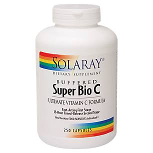Solaray Super Bio C Buffered - 250 vegcaps