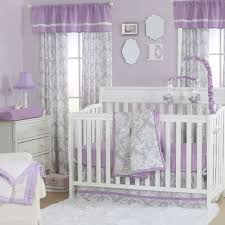 Lavender And Grey Bedding by The Peanut Shell 4 Piece Baby Crib Bedding Set Grey Damask