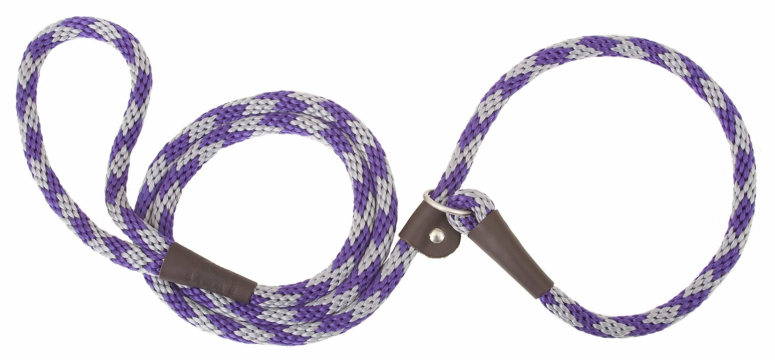 "Mendota Dog Slip Lead - Amethyst, 3/8"" x 6', Small"