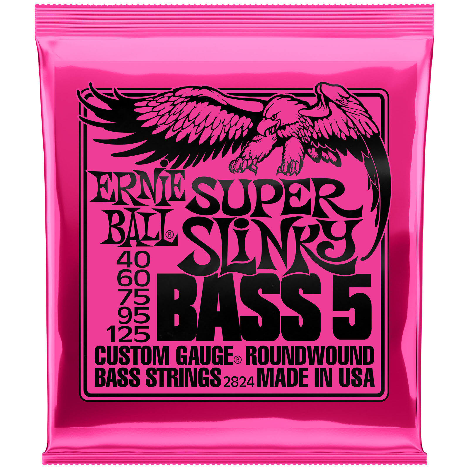 Ernie Ball 2824 Super Slinky Bass Electric Bass 5 String Set