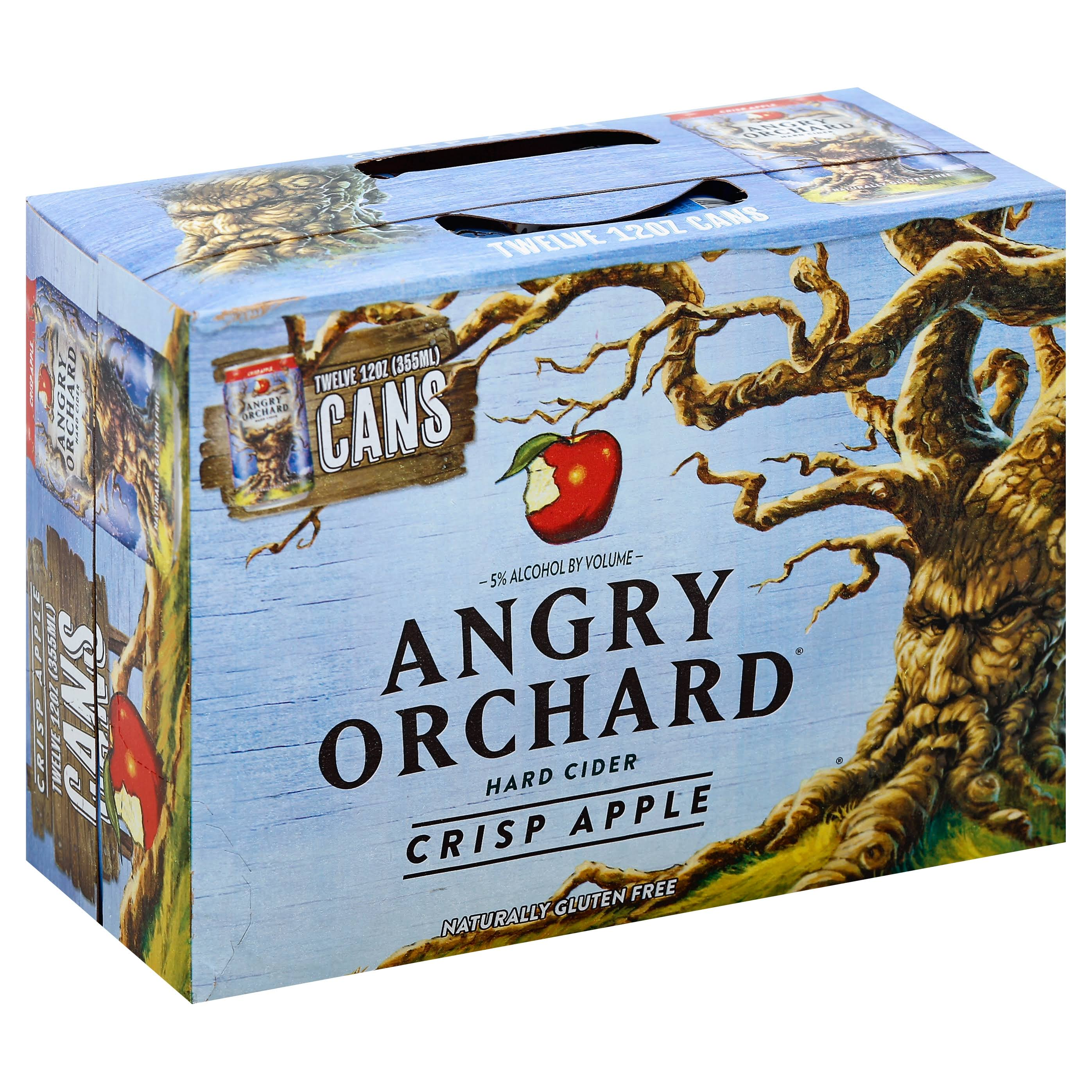 Angry Orchard Hard Cider Crisp Apple - 12 Cans