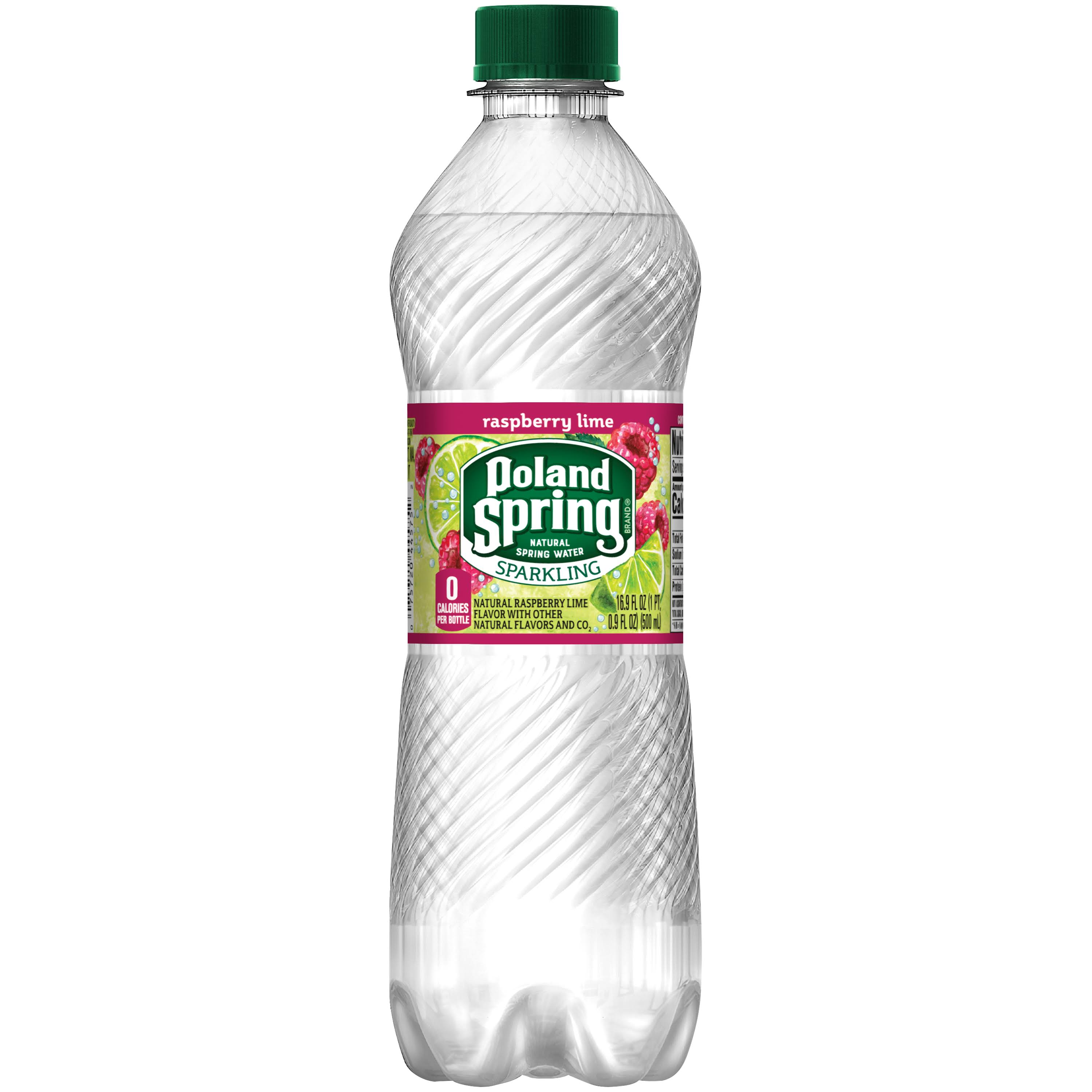 Poland Spring Sparkling Natural Spring Water - Raspberry Lime