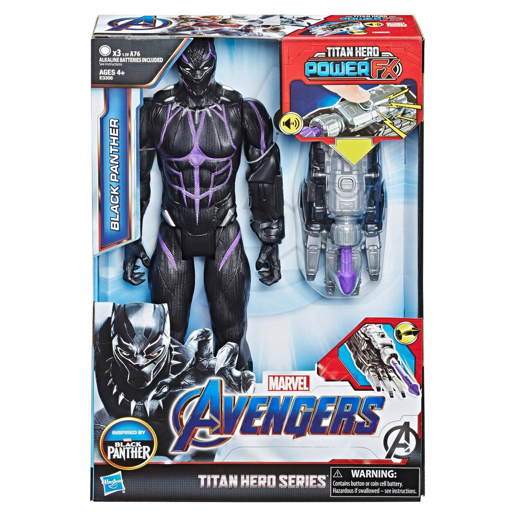 Marvel Avengers Endgame Titan Hero Power FX Black Panther Figure