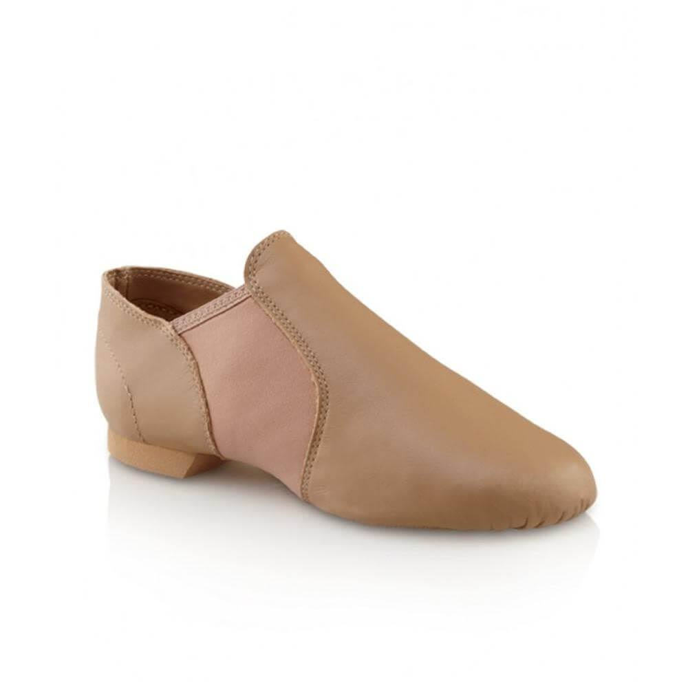 Capezio E Series Ej2c Slip-On Jazz Shoes - Caramel