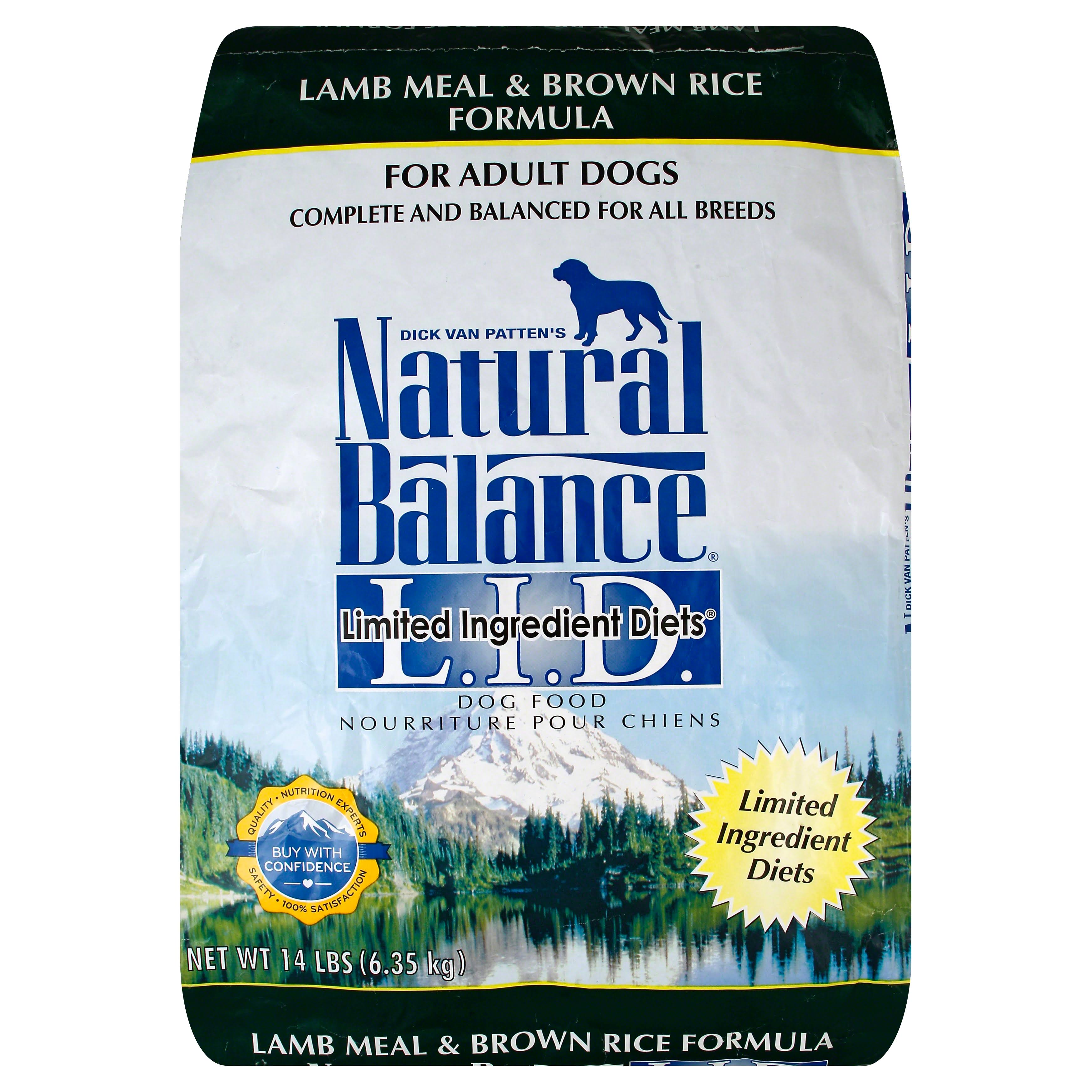 Natural Balance Dry Dog Food - Lamb Meal And Brown Rice