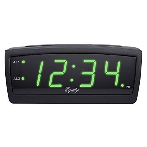 Equity Digital Alarm Clock - Green Led