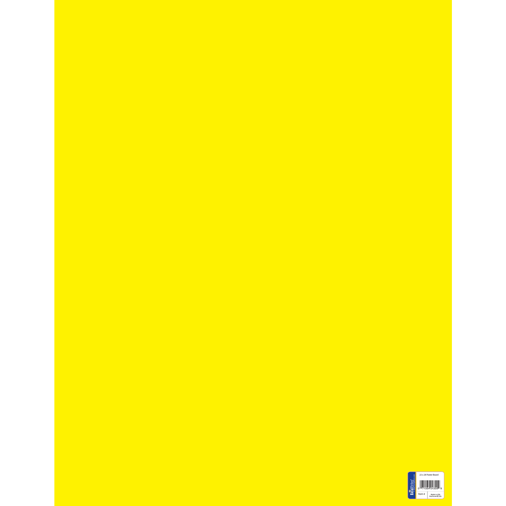 Royal Consumer Product Canary Poster Board - Yellow