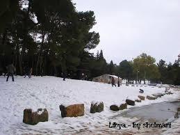 الثلوج في ليبيا
