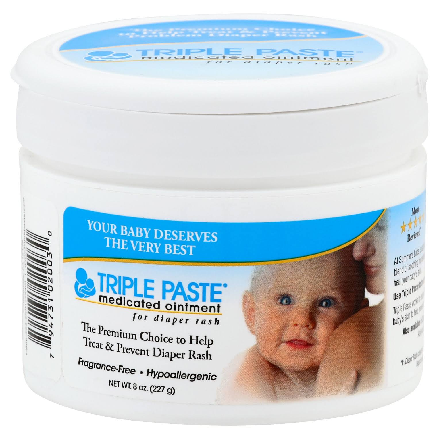 Triple Paste Medicated Ointment for Diaper Rash - 8oz