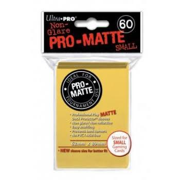 Ultra Pro Matte Small Yellow Sleeves - 62mm x 89mm