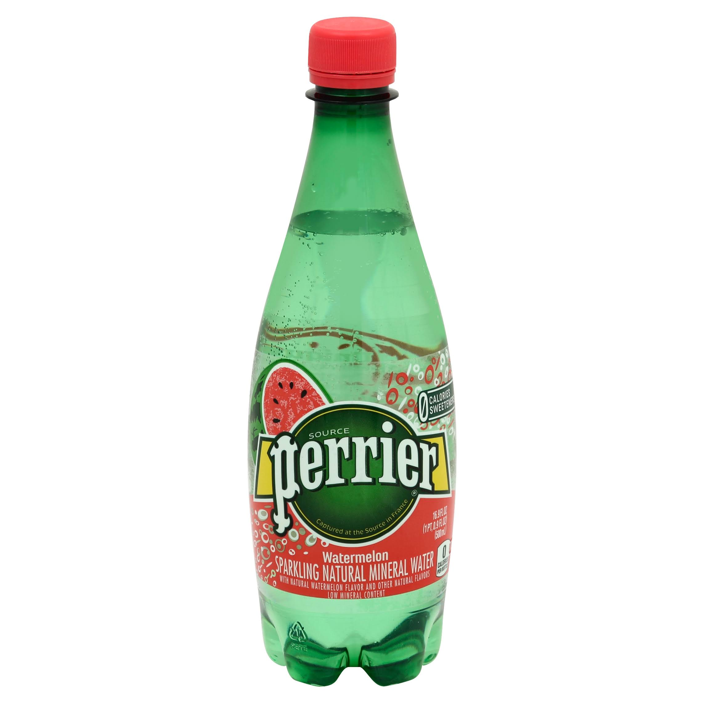 Perrier Hydro Mineral Water, Sparkling, Watermelon - 16.9 fl oz