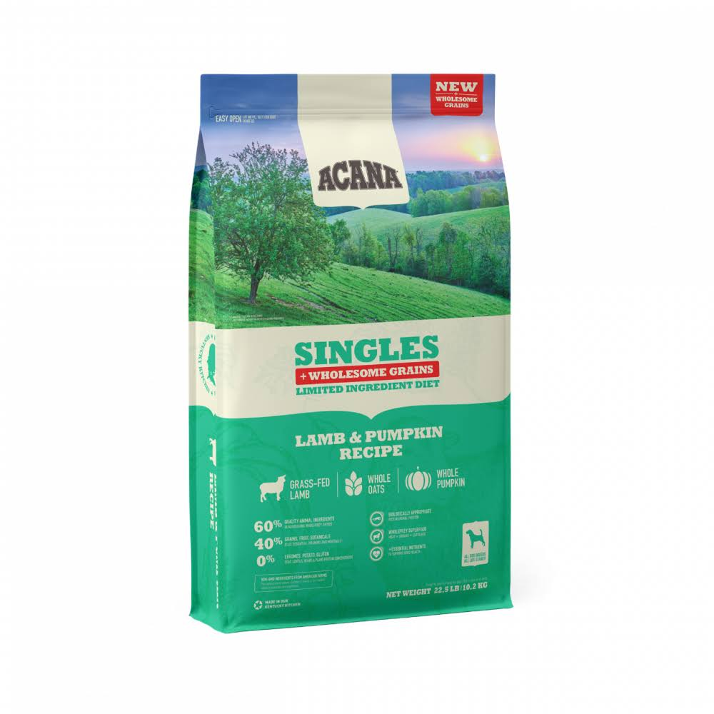 ACANA Singles Lamb & Pumpkin + Wholesome Grains Dry Dog Food - 22.5 lbs.