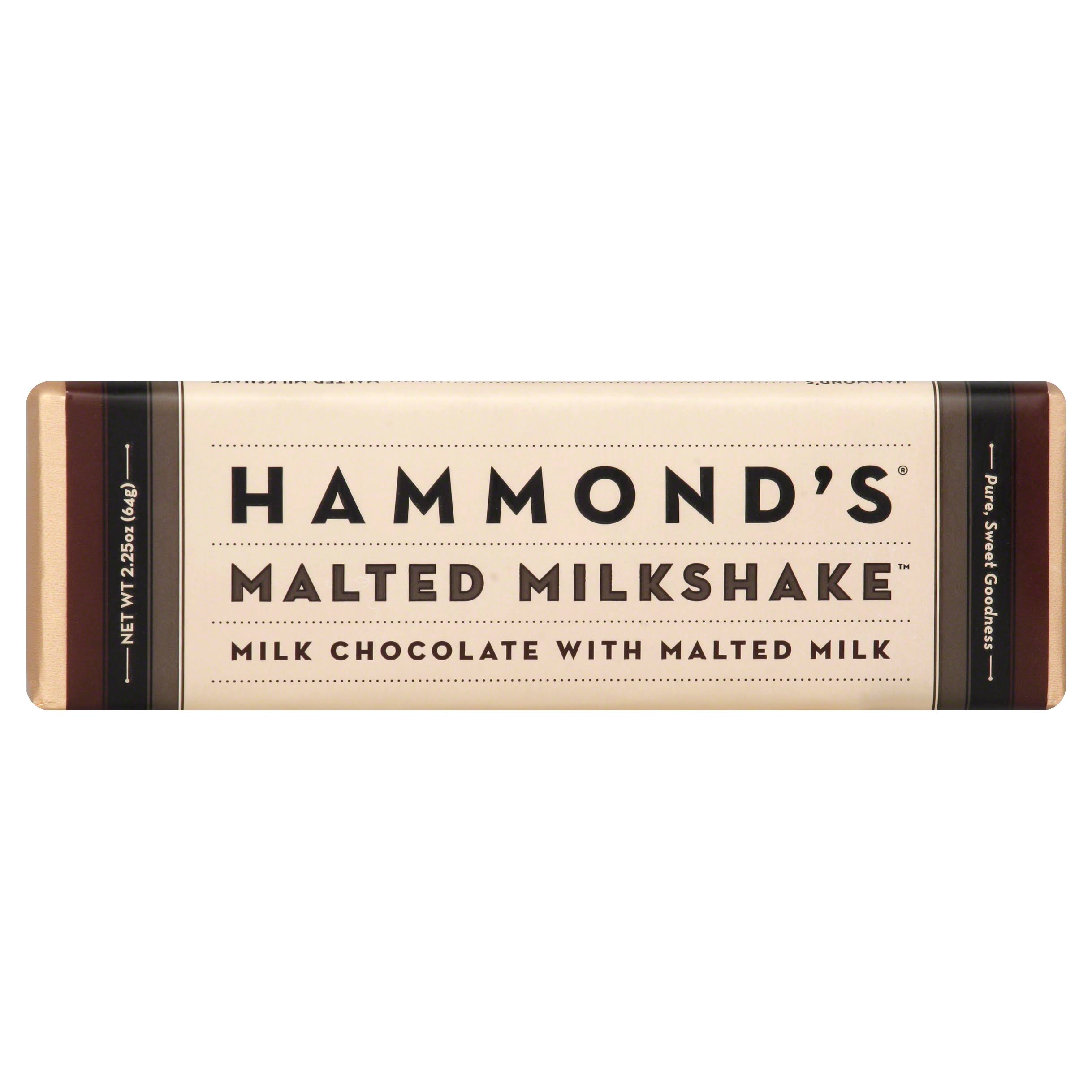 Hammond's Milk Chocolate - Malted Milkshake, 2.25oz, 12ct