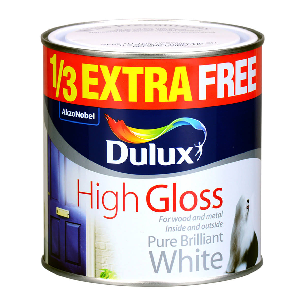 Dulux High Gloss Paint White 1Ltr (846HK)