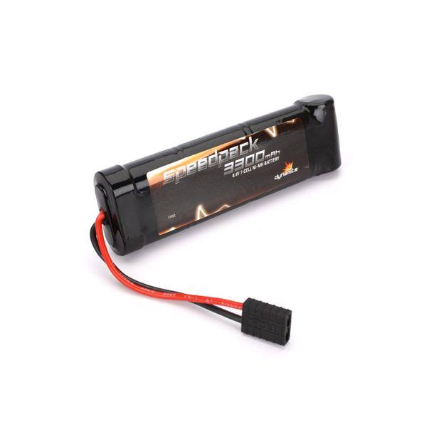 Dynamite Speedpack TRA Connector Battery - 3300mAh, NiMh 7 Cell Flat