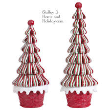 Raz Gold Christmas Trees by Christmas Ribbon Candy Trees Shelley B Home And Holiday