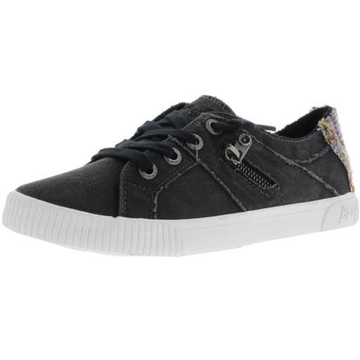 Blowfish Women's Fruit Sneakers - Black Smoked Canvas, Size 7.5