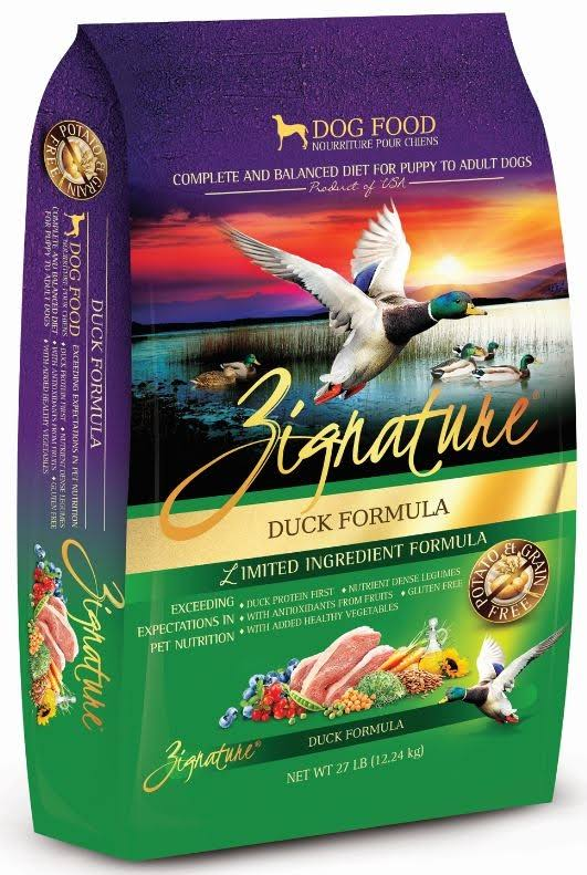 Zignature Duck Dry Dog Food 27 lb