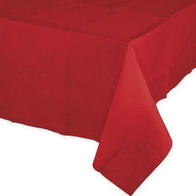 Creative Converting Touch of Color Paper Banquet Table Cover - Red