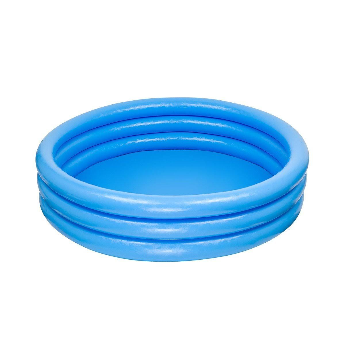 Intex Outdoor Inflatable Crystal Blue Kids Swimming Pool