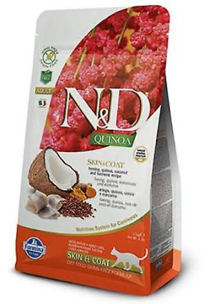 N and D Quinoa Cat Skin and Coat Herring and Coconut - 1.5kg
