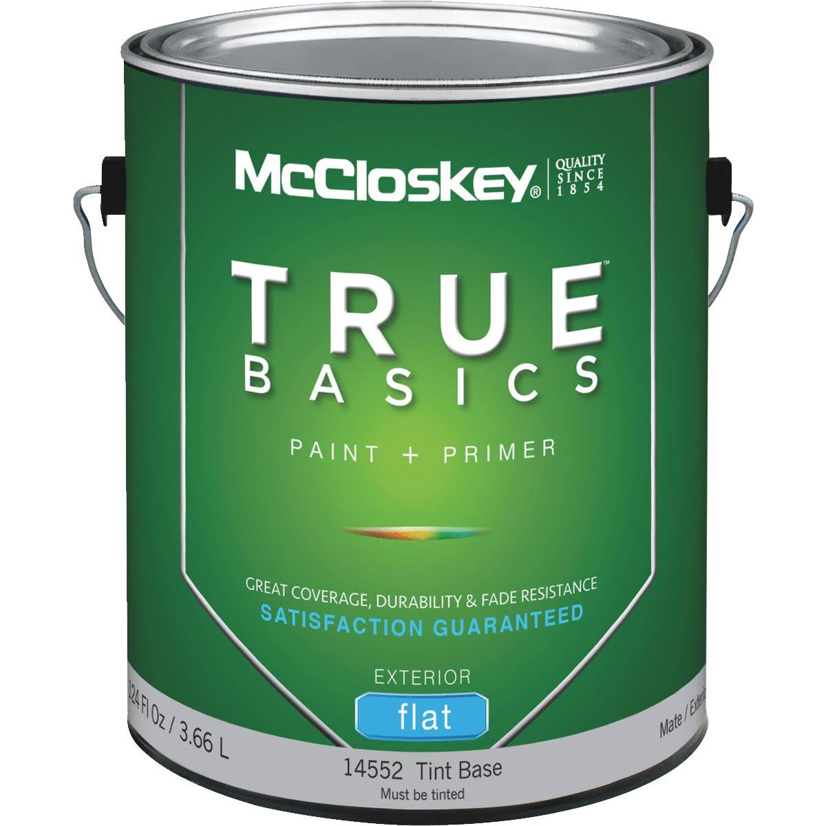 McCloskey True Basics Latex Paint & Primer Flat Exterior House Paint