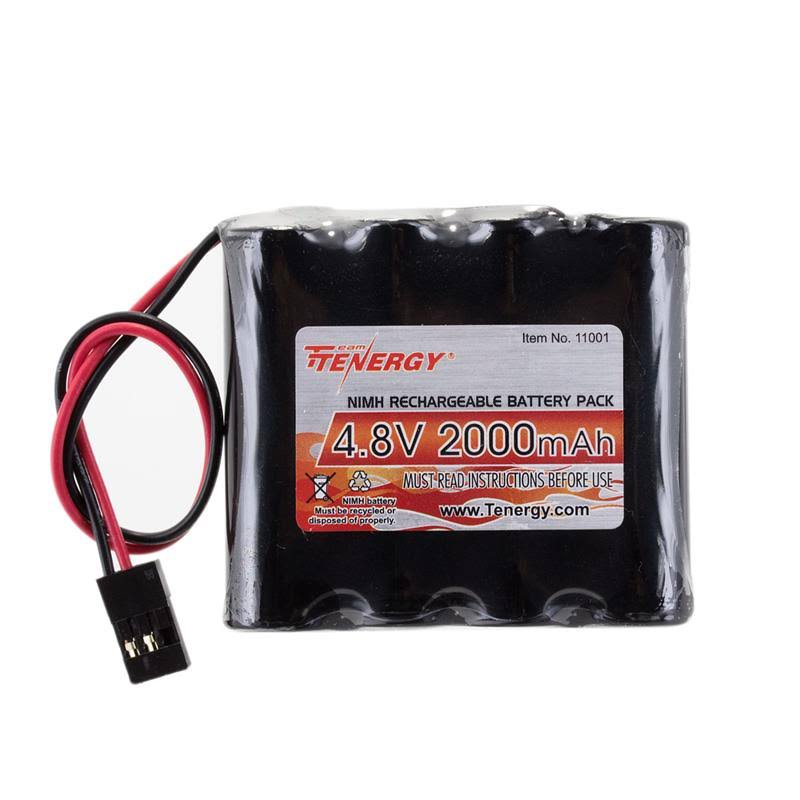 Tenergy 4.8V 2000mAh NiMH Receiver RX Battery with Hitec Connectors for RC