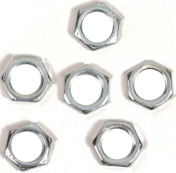 Jandorf Hex Nuts, Nickel, 1/8""