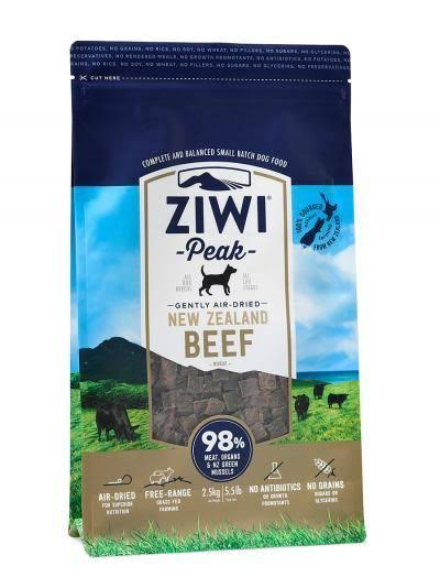 Ziwipeak Real Meat Grain Free Air-Dried Dog - Beef, 5.5lb