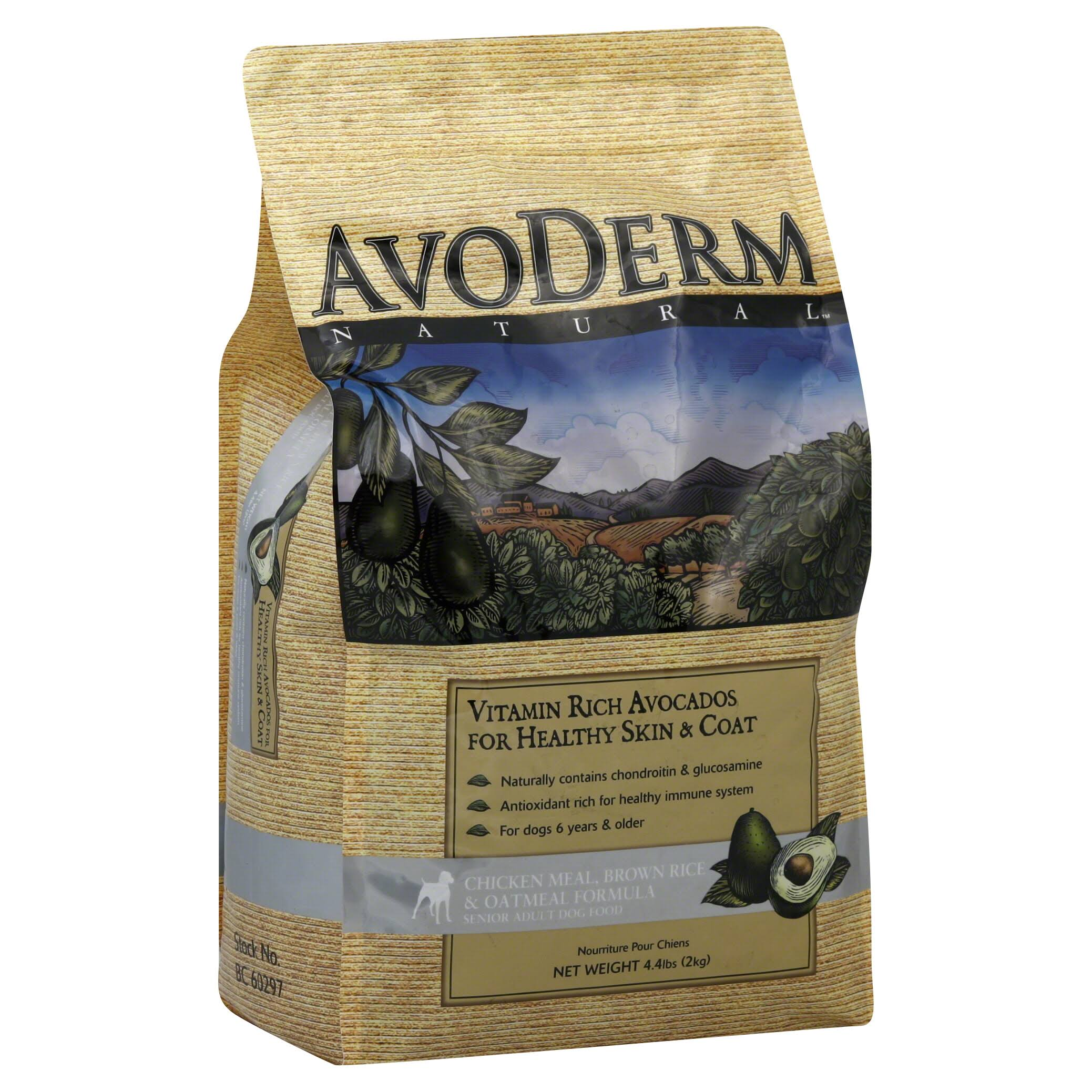 AvoDerm Natural Chicken Meal and Brown Rice Formula Senior Dog Food - 4.4lb