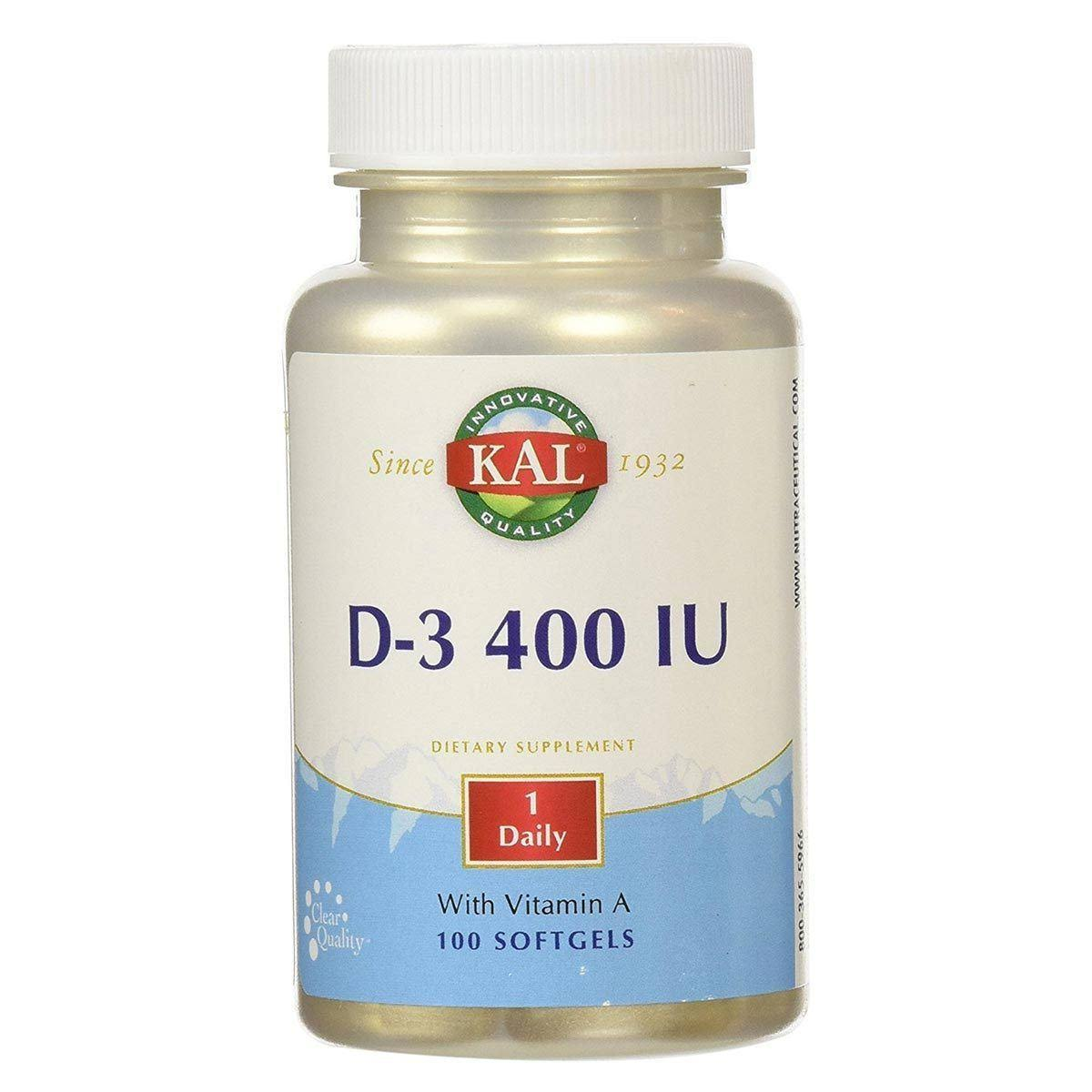 Kal D-3 400 IU Supplement - 100ct