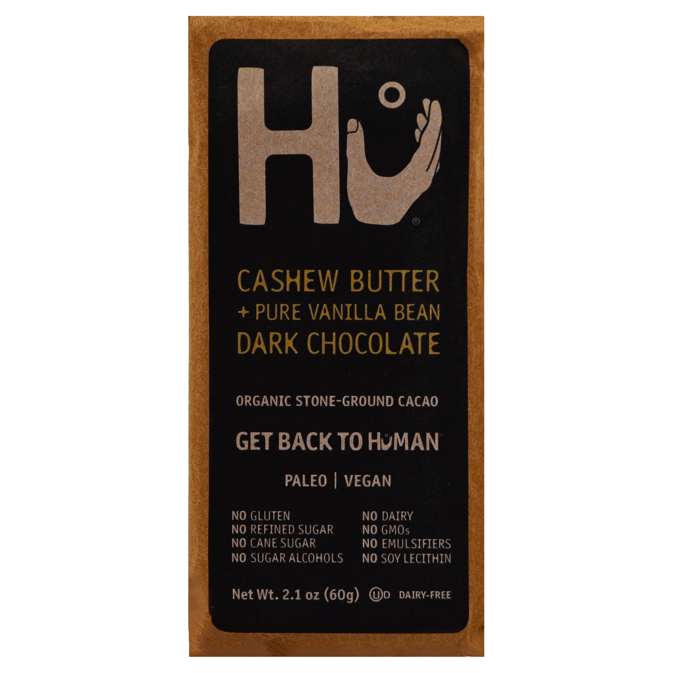HU Organic Dark Chocolate Bar - Cashew Butter, Pure Vanilla Bean, 2.1oz